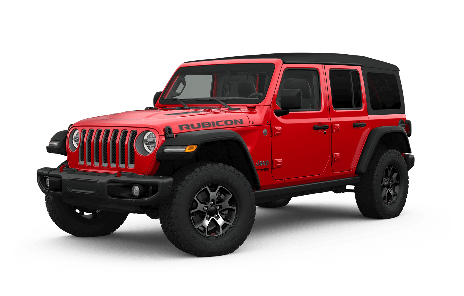 2019 Jeep Wrangler Full View in red with Wheels
