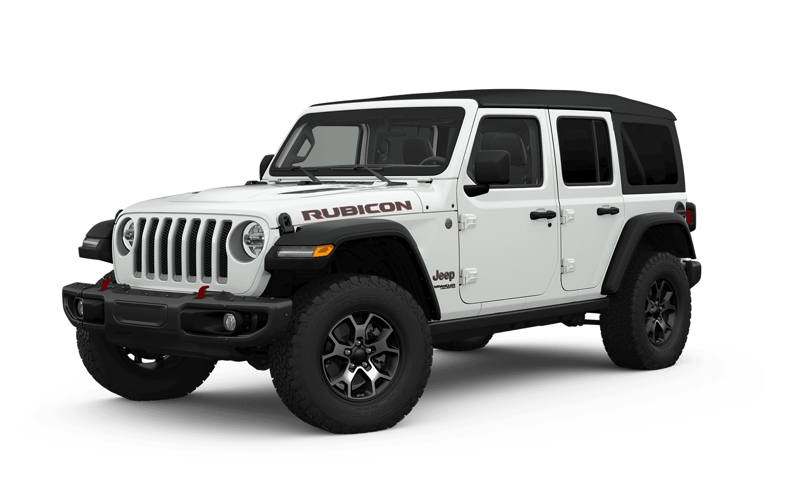 2019 Jeep Wrangler Full View in white with Wheels