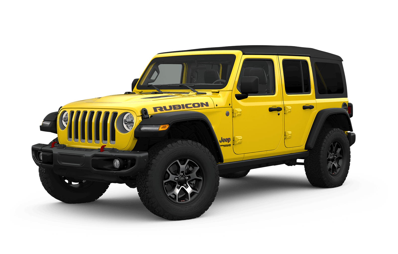 2019 Jeep Wrangler Full View in yellow with Wheels