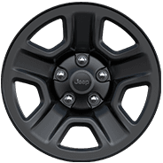 2019 Jeep Wrangler with 17-inch Black aluminum wheel
