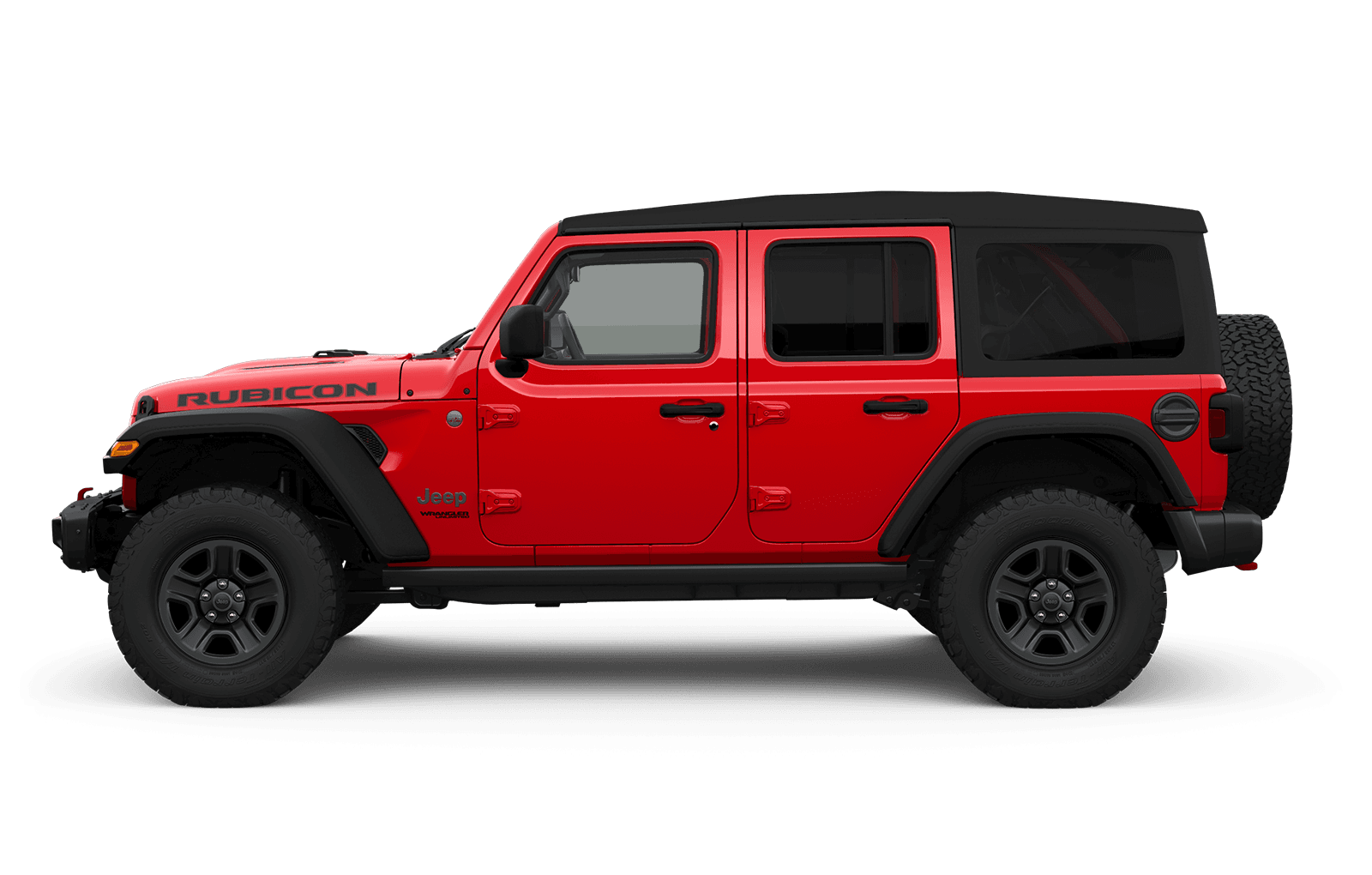 2019 Jeep Wrangler sideview with 17-inch Black aluminum wheel