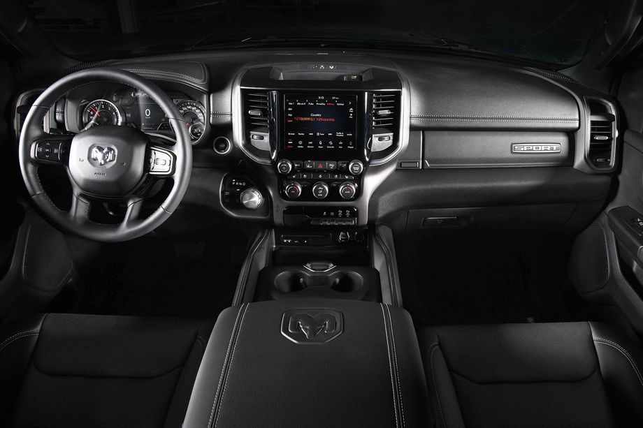 Captivating 2019 Ram 1500 Sport Themed Heated Premium Seats All Black Interior