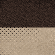 Natura Plus leather with perforated inserts - Canyon Brown / Light Frost with Canyon Brown piping, and Ruby Red accent stitching