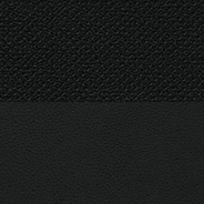 Natura Plus leather with perforated inserts - Black with Medium Greystone accent stitching and piping