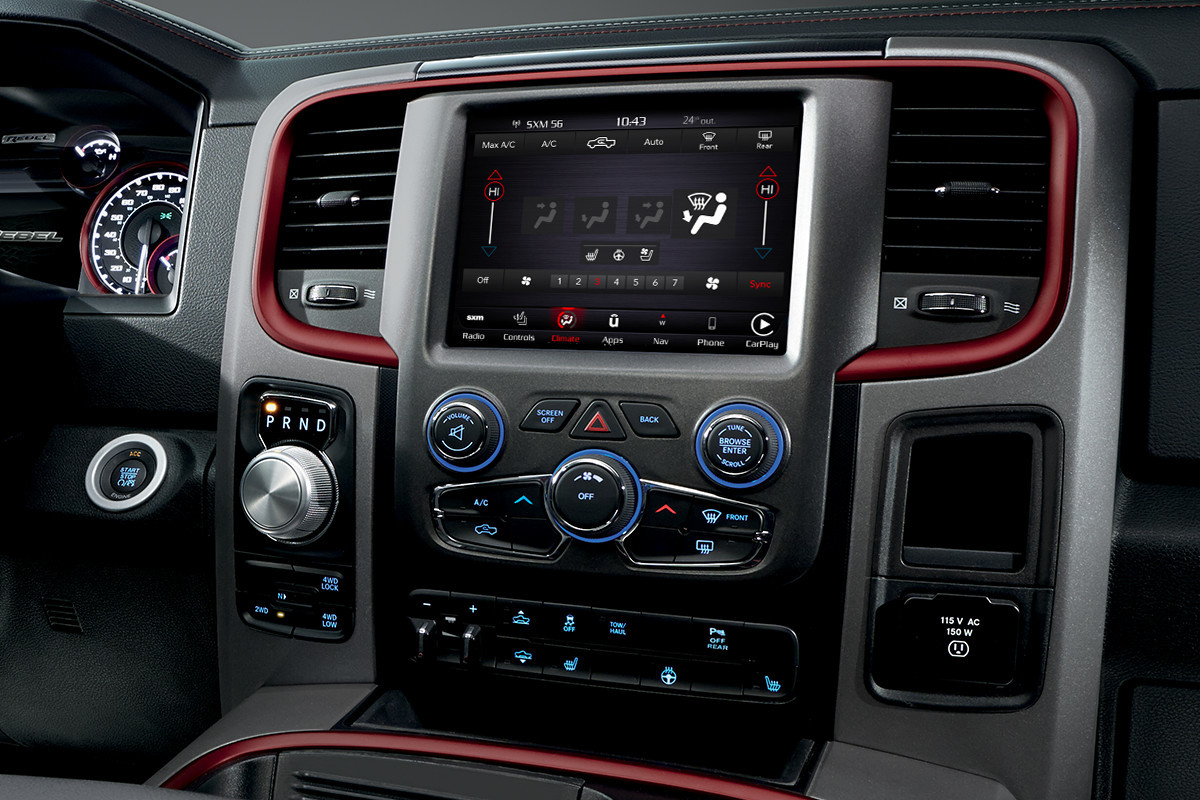 2018 RAM 1500 interior features dual zone temperature control