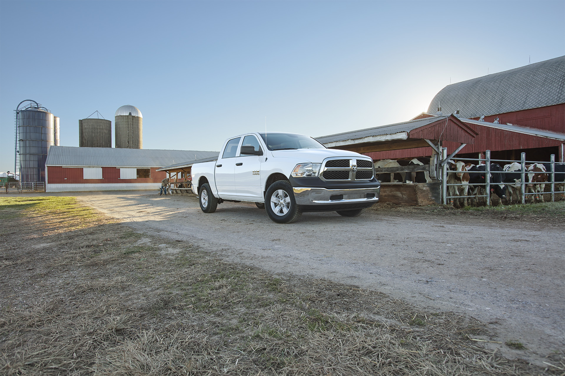 2018 RAM 1500 built to work shown in white