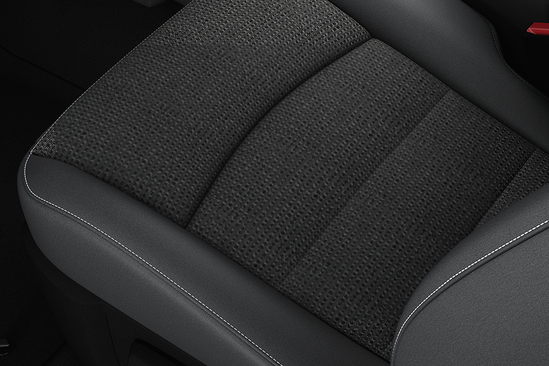 2019 Ram 1500 Classic interior, showing premium cloth seating
