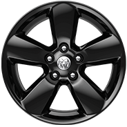 20-inch Semi-Gloss Black aluminum