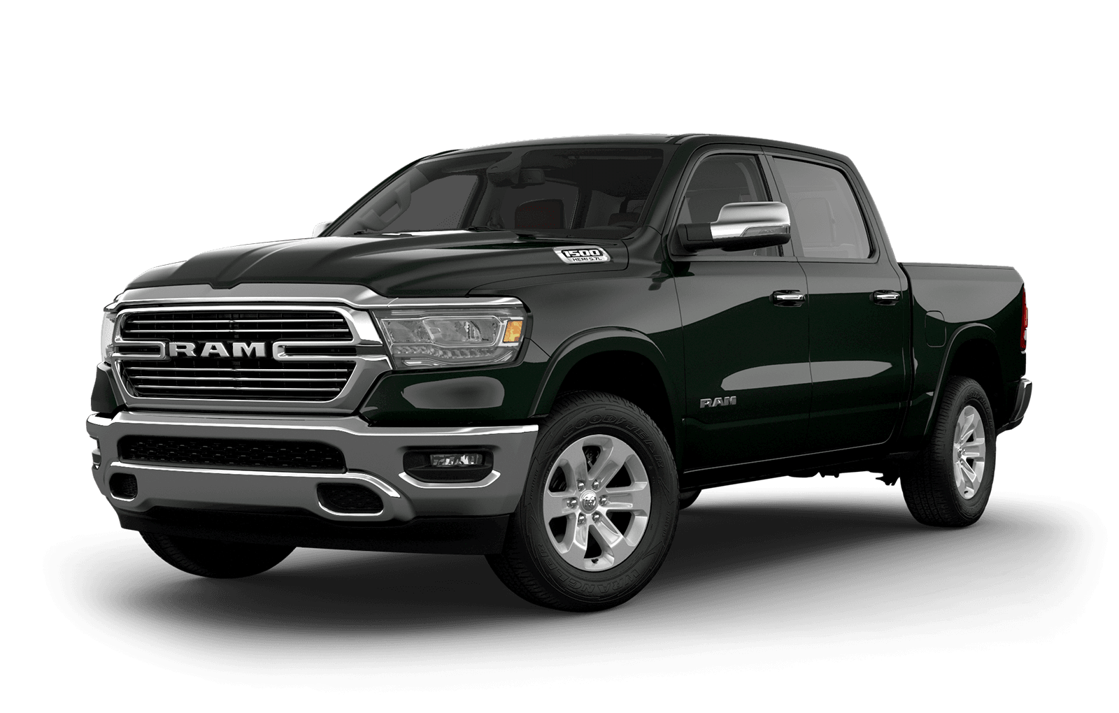 2019 Ram 1500 colour Black Forest Green Pearl
