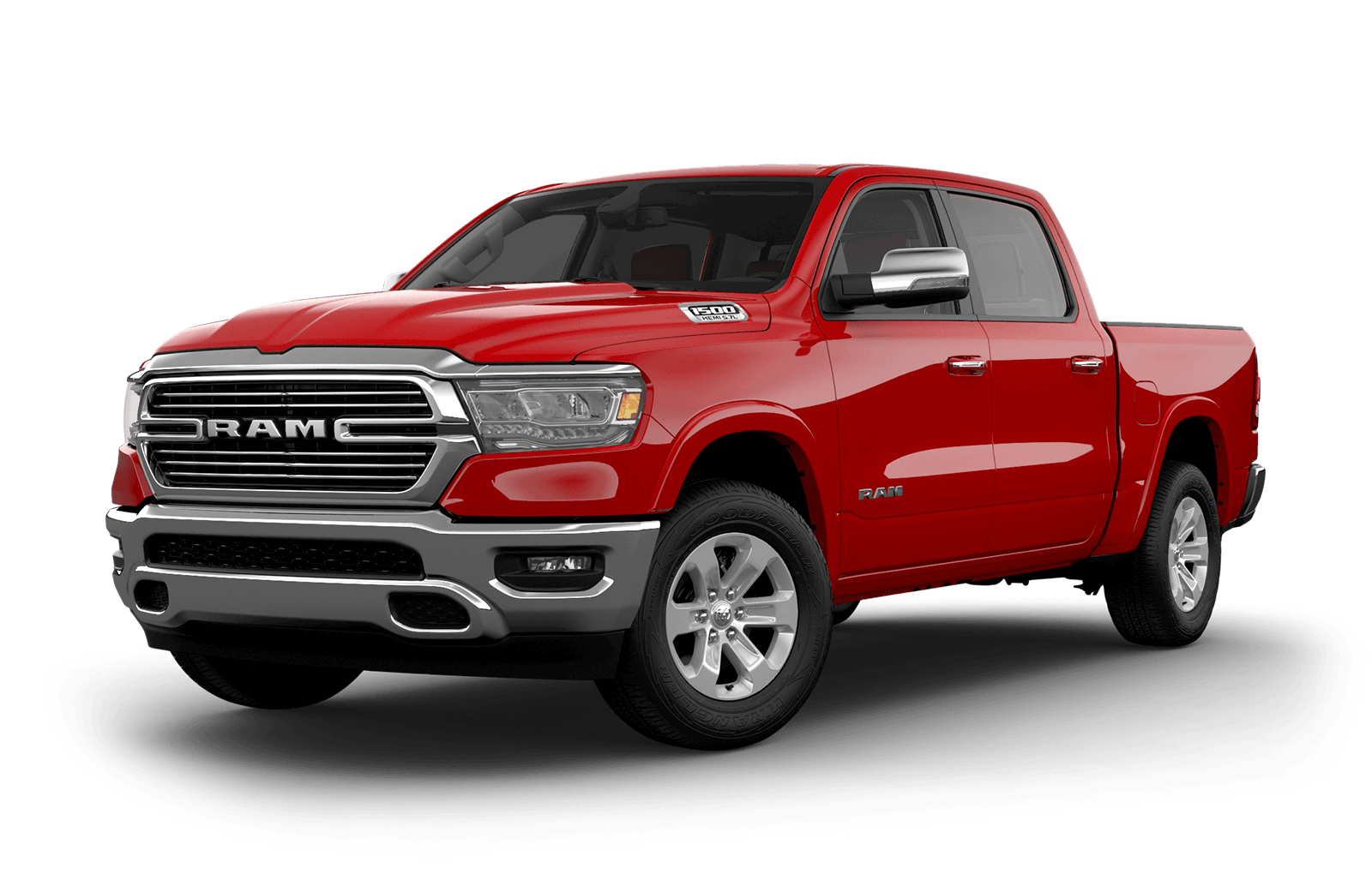 2020 Ram 1500 colour Flame Red