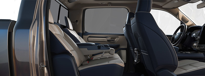 Interior of the 2020 Ram 1500 showcasing the seats.