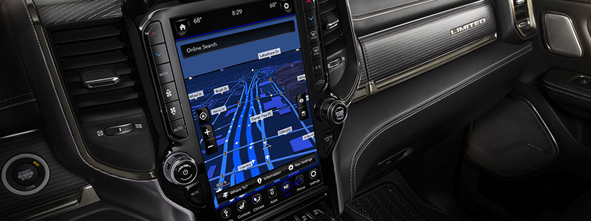 Media Centre Touchscreen display for the 2020 Ram 1500.