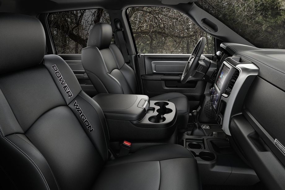 2018 RAM 2500 Pickup Truck Black Leather Faced Seating