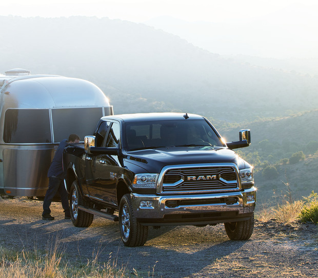 2018 RAM 2500 pickup truck towing trailer
