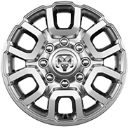 18-inch polished aluminum wheels with Silver painted pockets