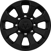 17-inch Black painted aluminum