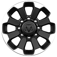 17-inch aluminum with Matte Black painted pockets and Black centre cap