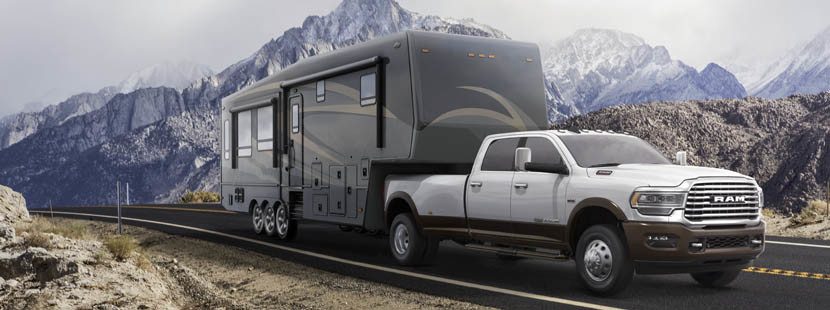 2019 Ram 3500 exterior showing towing capabilities.