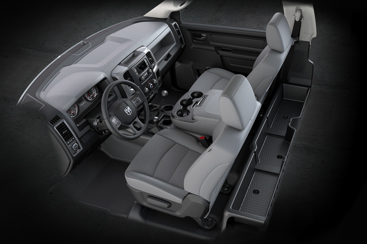 2018 RAM Chassis Cab storage features including map pockets & dual glove box