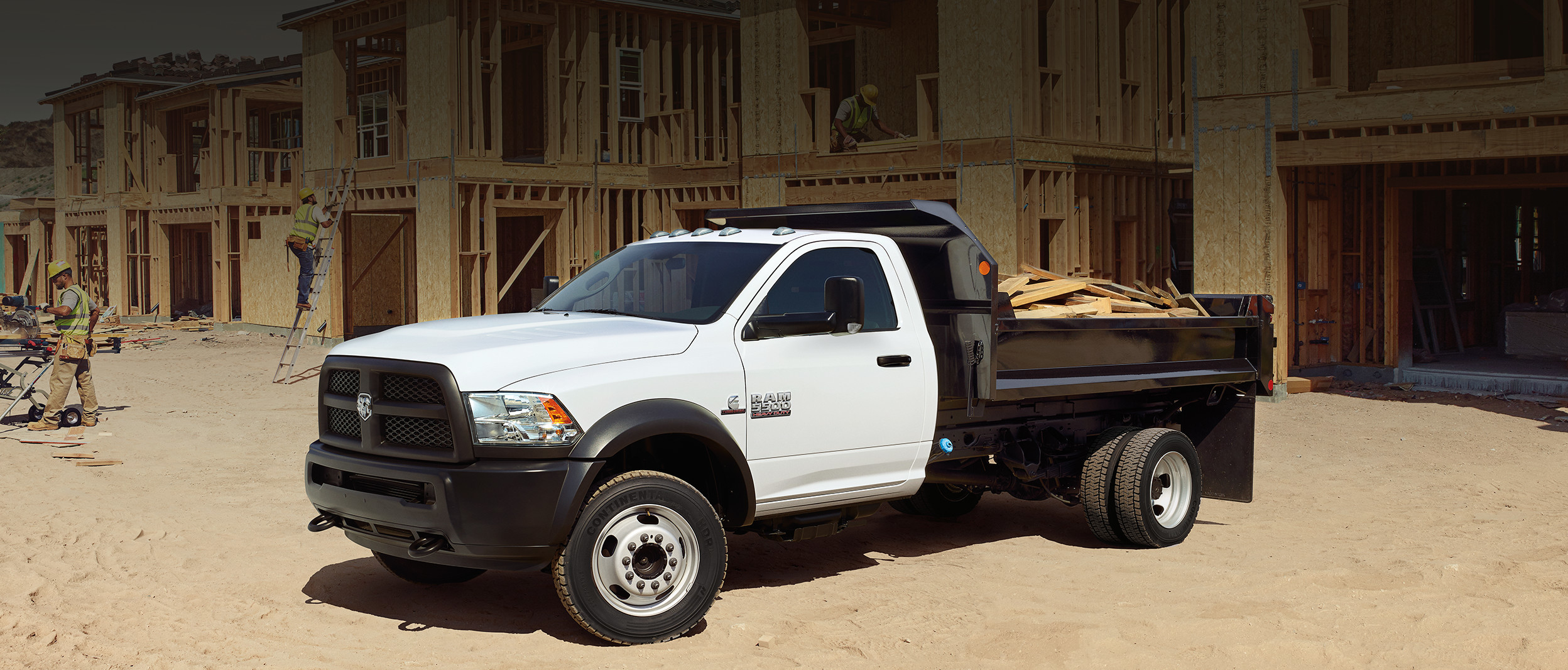 2018 RAM Chassis Cab side view, shown in white