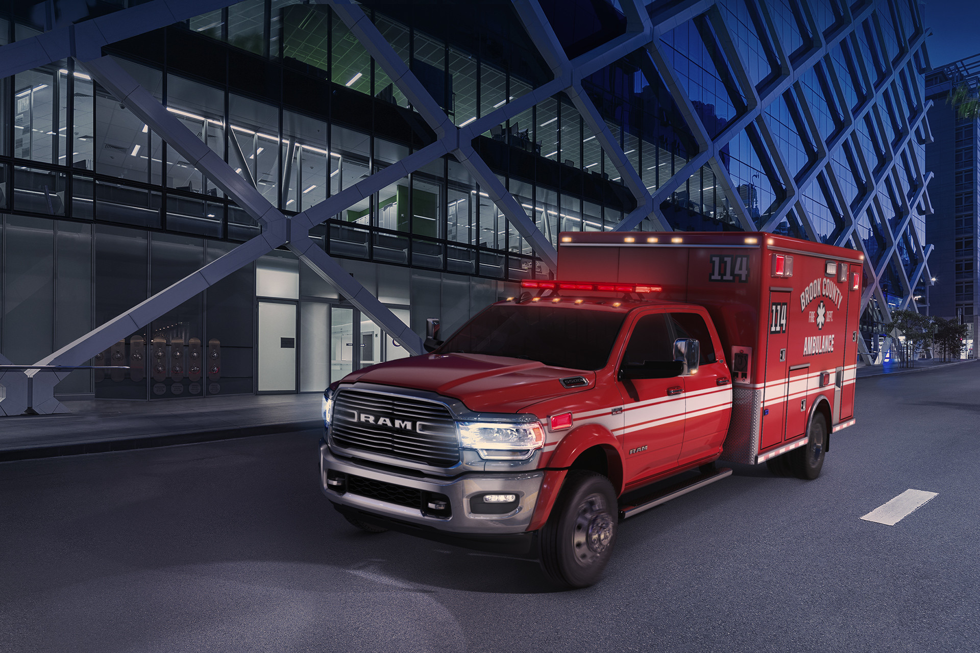 2019 Ram Chassis Cab exterior shown with an ambulance upfit.