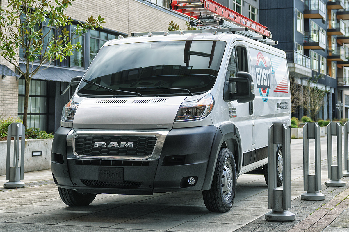 2019 Ram ProMaster parked, shown in white