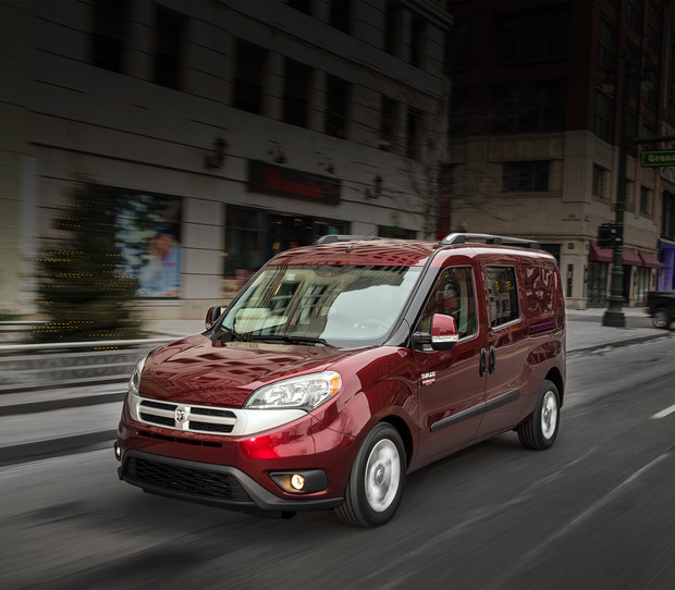 Fourgonnette RAM ProMaster City 2018 illustrée en rouge