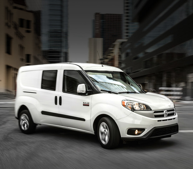 Fourgonnette RAM ProMaster City 2018 illustrée en blanc