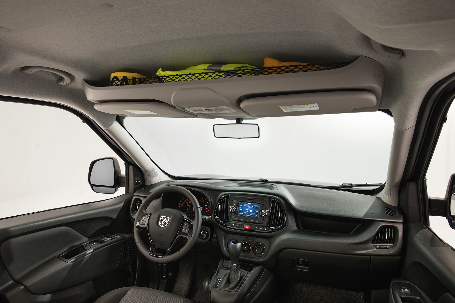 2019 Ram ProMaster City cockpit and overhead storage bins