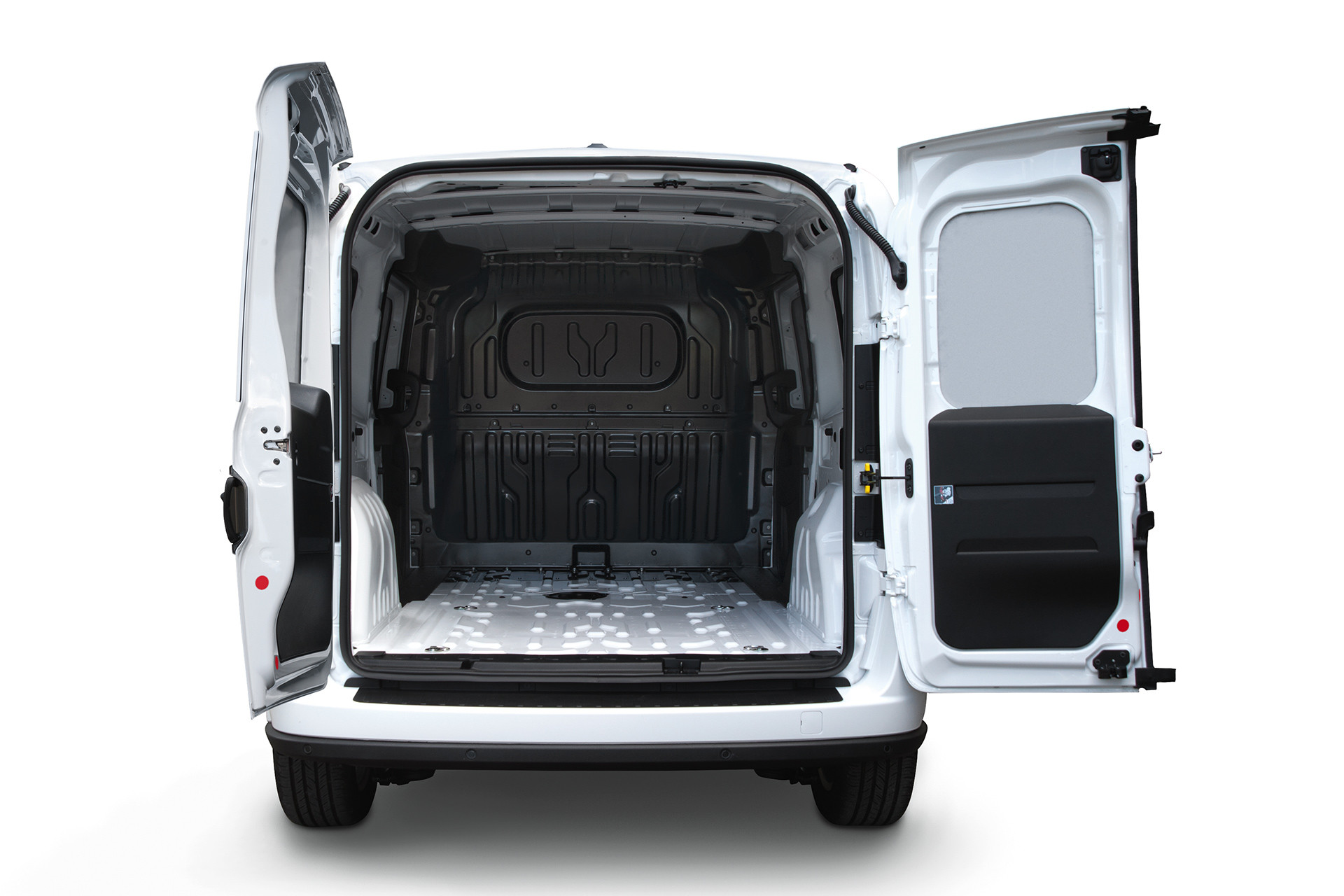 2019 Ram ProMaster City view of cargo area with rear doors open