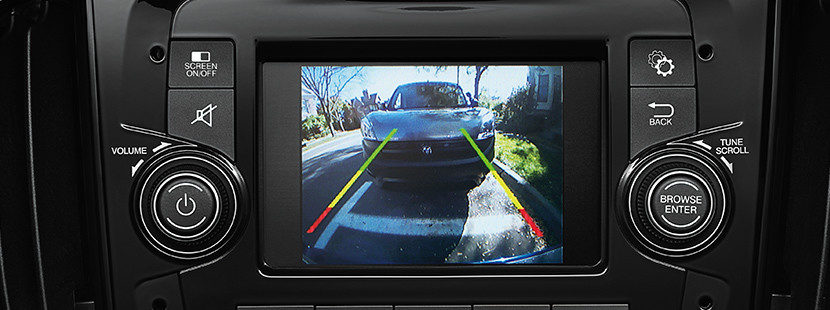 The Parkview rear back up camera of the 2020 Ram ProMaster City on the 5-inch multimedia centre screen