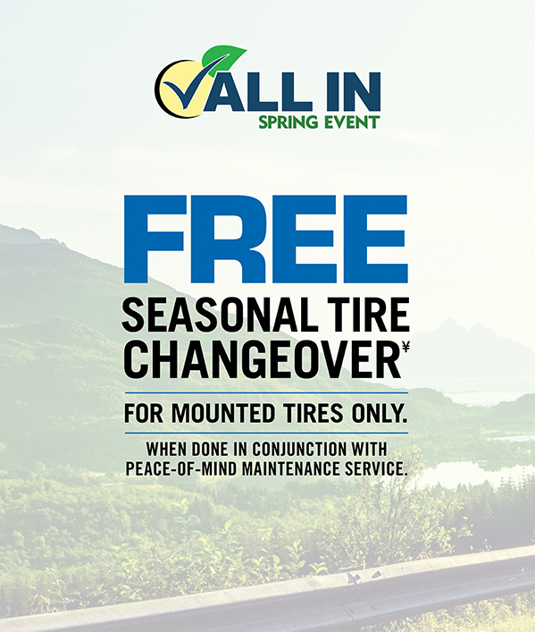 Tire Changeover FREE Seasonal Tire Change Over≠