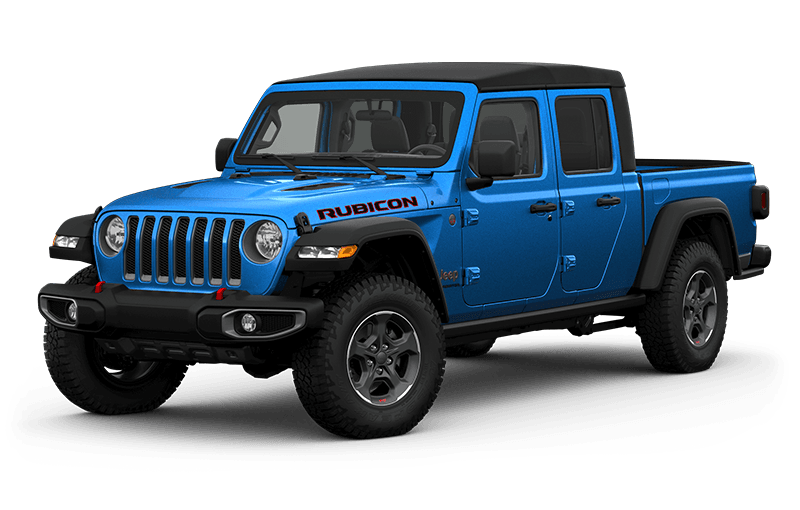 All-New 2020 Jeep® Gladiator Rubicon - Hydro Blue (Late availability)