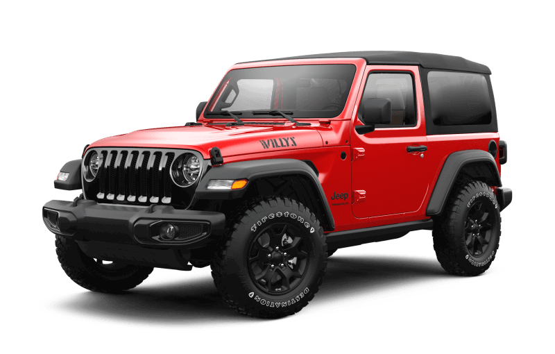 Jeep® Wrangler 2021 Willys - Rouge pétard