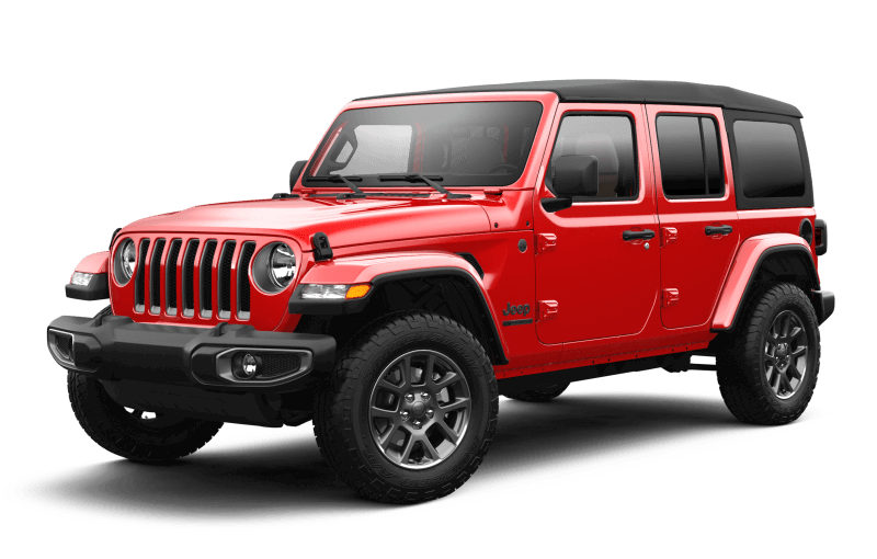 Jeep® Wrangler 2021 Unlimited Sport édition 80e anniversaire - Rouge pétard