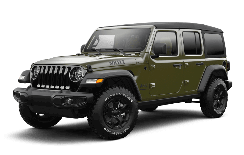 Jeep® Wrangler 2021 Unlimited Willys - Vert sergent