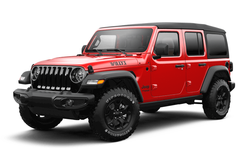 Jeep® Wrangler 2021 Unlimited Willys - Rouge pétard