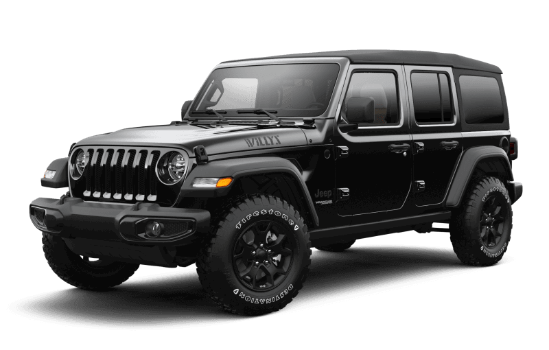 Jeep® Wrangler 2021 Unlimited Willys - Noir
