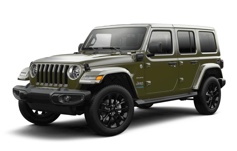 2021 Jeep® Wrangler 4xe Unlimited Sahara - Sarge Green