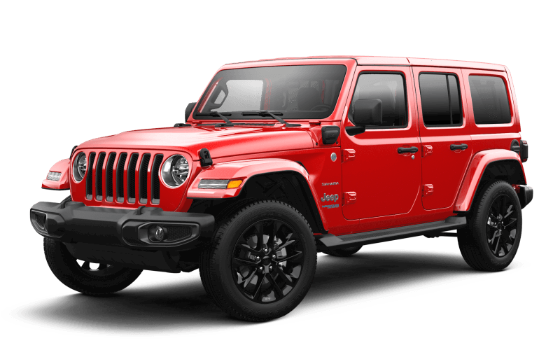 Jeep® Wrangler 4xe 2021 Unlimited Sahara - Rouge pétard
