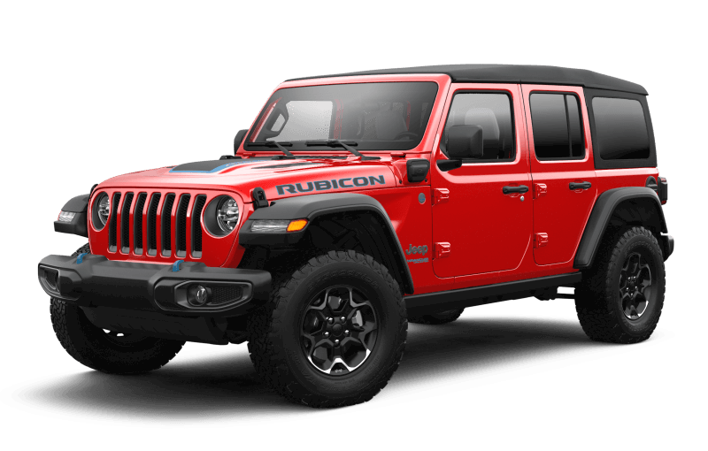 Jeep® Wrangler 4xe 2021 Unlimited Rubicon - Rouge pétard
