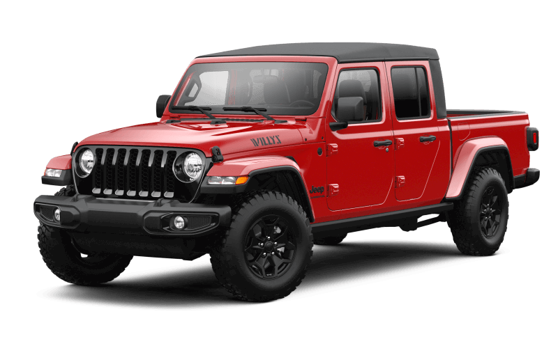 Jeep® Gladiator 2021 Willys - Rouge pétard
