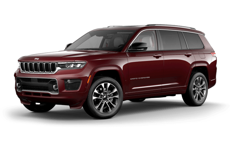 All-New 2021 Jeep® Grand Cherokee L Overland - Velvet Red Pearl