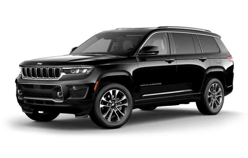 All-New 2021 Jeep® Grand Cherokee L Overland - Diamond Black Crystal Pearl